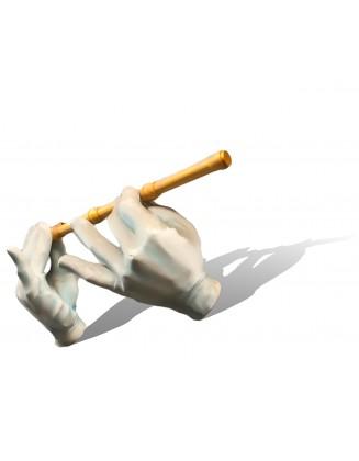 Sculpture Mains avec flûte